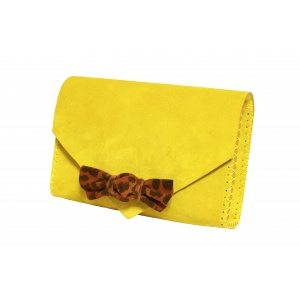yellow animal print candy bag