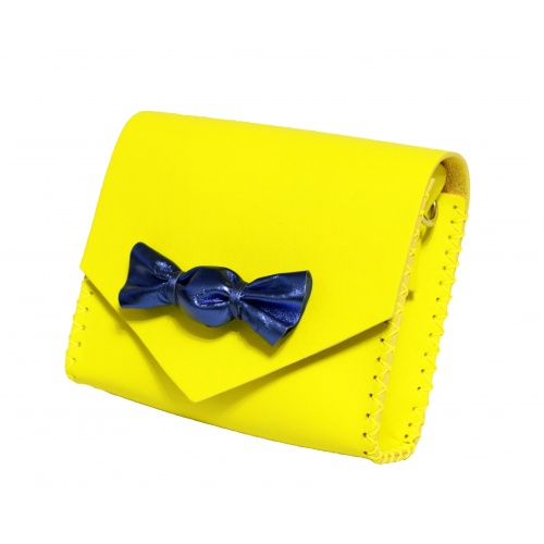 Handmade Lemon Yellow Leather Candybag Carmenittta