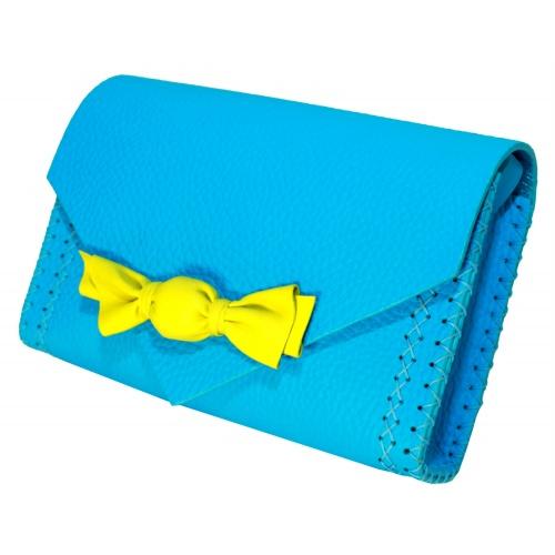 Handmade Turquoise Leather Candybag Carmenittta