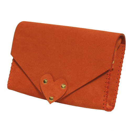 Living Coral Natural Leather Handmade Bag Camenittta
