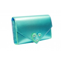 Metallic Blue Leather Handmade Bag Carmenittta