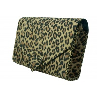 Animal Print Suede Leather Handmade Bag