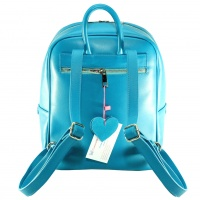 Handpainted Unicorn on Turquoise Suede Leather Backpack