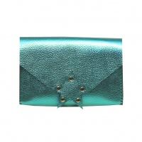 Metallic Green Leather Handmade Star Bag Carmenittta