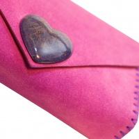 Taraxacumofficinale Resin and Leather Handmade Bag by Carmenittta
