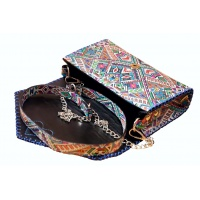 Traditional Colorful Printed Leather Bag by Carmenittta