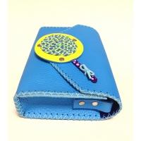 Handmade Blue Leather Lollypopbag Carmenittta