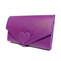 Dark Orchid Saffiano Leather Handmade Bag