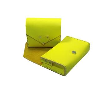 yellow bags opened