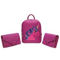 Purple Leather Handmade Little Bag