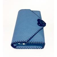 Centaureacyanus Epoxy Resin and Natural Leather Bag by Carmenittta