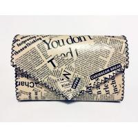 Newspaper Print Leather Handmade Bag