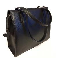 Natural Black Leather Bag